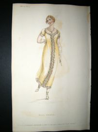 Ackermann 1811 Hand Col Regency Fashion Print. Ball Dress 5-24
